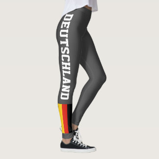 German flag leggings for sport fitness yoga