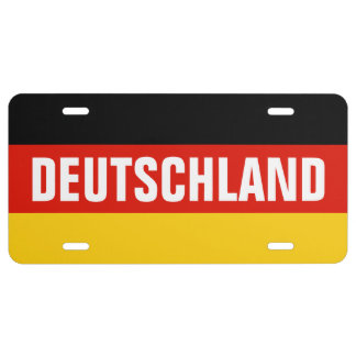 German flag license plate with custom text