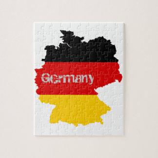German Flag Map Puzzle
