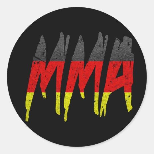 German Flag MMA Classic Round Sticker