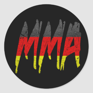 German Flag MMA Round Sticker
