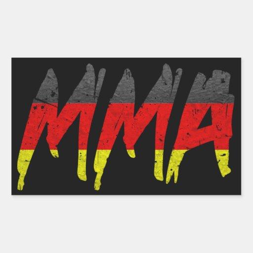 German Flag MMA Sticker