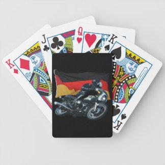 German Flag & Motorbike Rider Bicycle Playing Cards