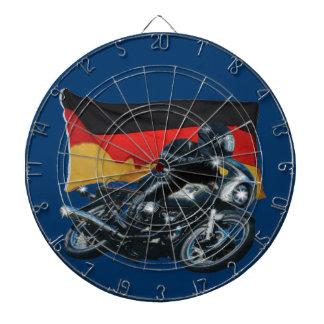 German Flag & Motorbike Rider Dartboard