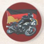 German Flag & Motorbike Rider Drink Coasters