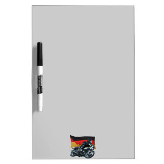 German Flag & Motorbike Rider Dry-Erase Whiteboard