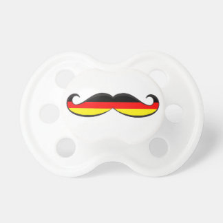 German Flag Mustache Pacifier