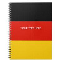 German flag of Germany custom spiral notebook