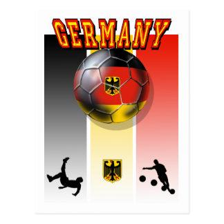 German flag of Germany soccer ball bicycle kick Postcard
