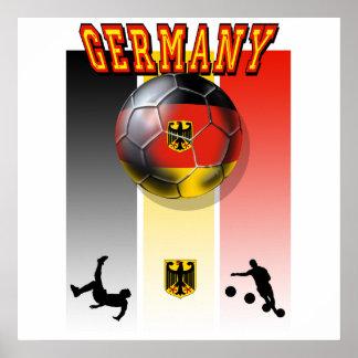 German flag of Germany soccer ball bicycle kick Posters