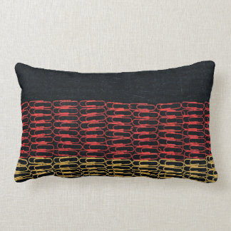 German Flag of Paperclips Throw Pillow