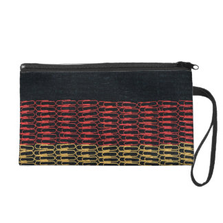 German Flag of Paperclips Wristlet Clutch