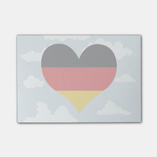 German Flag on a cloudy background Post-it® Notes