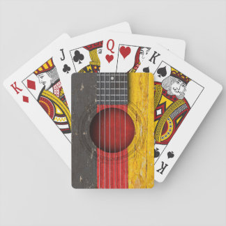 German Flag on Old Acoustic Guitar Playing Cards