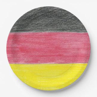 German Flag Paper Plates