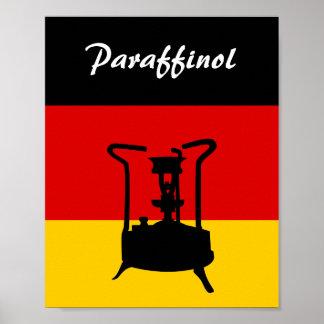 German Flag | Paraffinol Pressure stove Poster