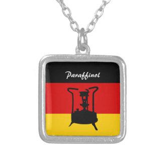 German Flag | Paraffinol Pressure stove Square Pendant Necklace