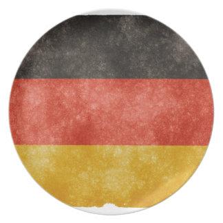 German Flag Plate