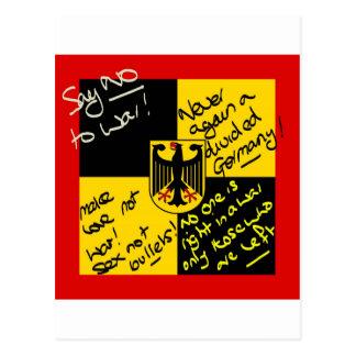 German Flag Postcard
