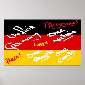 German Flag Poster Print