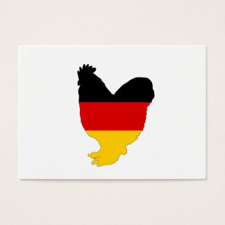 German Flag - Rooster Business Card