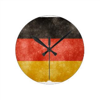 German Flag Round Clock