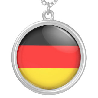 German  flag silver plated necklace