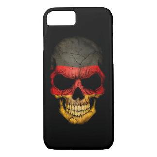 German Flag Skull on Black iPhone 8/7 Case