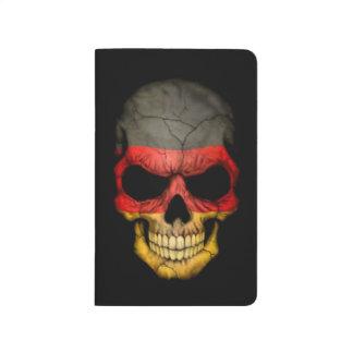 German Flag Skull on Black Journal