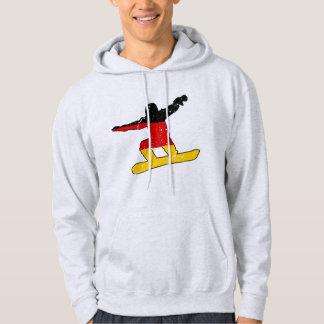 German flag SNOWBOARDER (blk) Hoodie