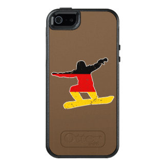 German flag SNOWBOARDER (wht) OtterBox iPhone 5/5s/SE Case