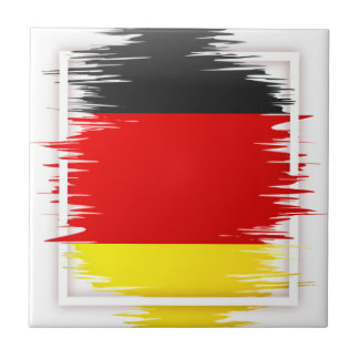 German Flag Soccer Tile