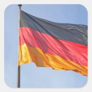 German Flag Square Sticker