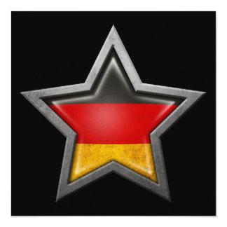 German Flag Star on Black Card