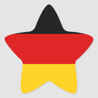 German Flag Star Sticker
