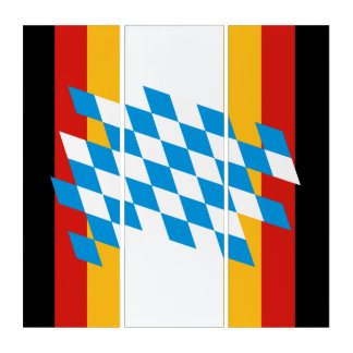 GERMAN FLAG & STATE OF BAVARIA Colors Triptych
