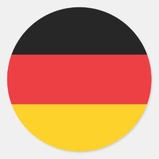 German flag round stickers