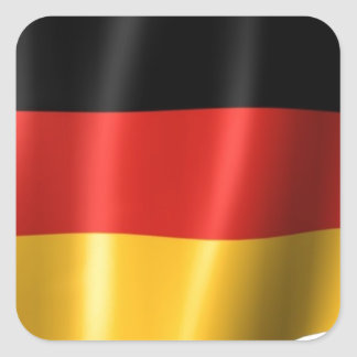 German Flag Square Stickers