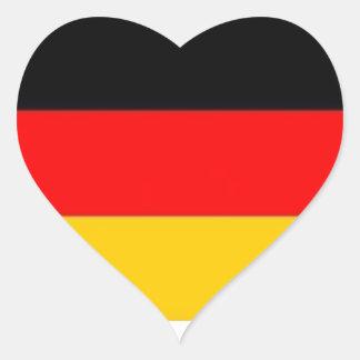 German Flag Heart Stickers