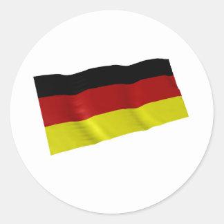 german flag classic round sticker