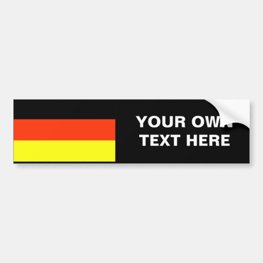 German Flag T-shirts and Gifts Car Bumper Sticker