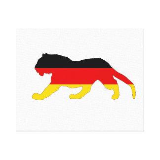German Flag - Tiger Canvas Print