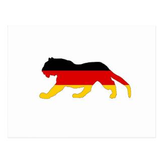 German Flag - Tiger Postcard