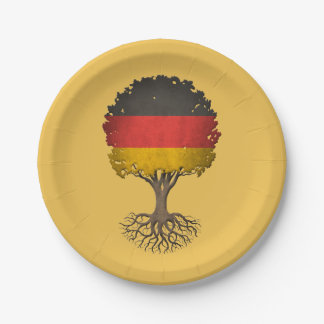 German Flag Tree of Life Customizable 7 Inch Paper Plate
