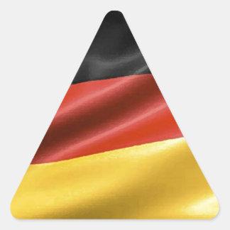 German Flag Triangle Sticker