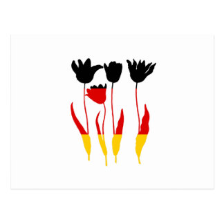 German Flag - Tuilps Postcard