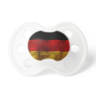 German Flag - Vintage Baby Pacifier
