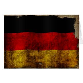 German Flag - Vintage Card