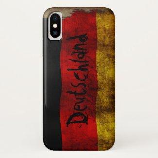German flag - Vintage… iPhone X Case