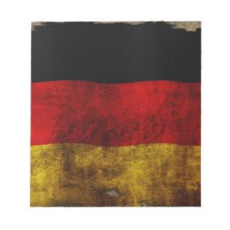 German Flag - Vintage Notepad